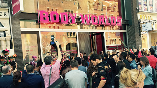exterior Body Worlds Amsterdam
